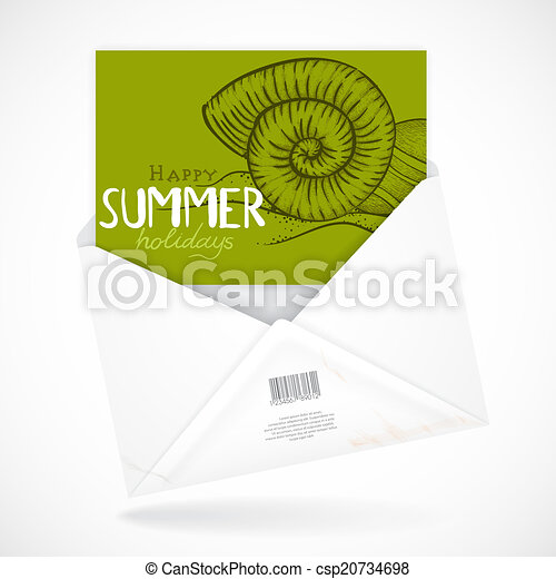 Postal Envelopes With Greeting Card - csp20734698