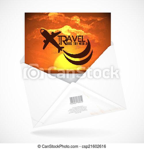 Postal Envelopes With Greeting Card - csp21602616