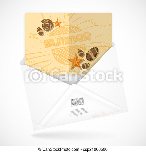 Postal Envelopes With Greeting Card - csp21000506