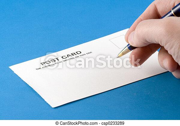postal, escritura - csp0233289
