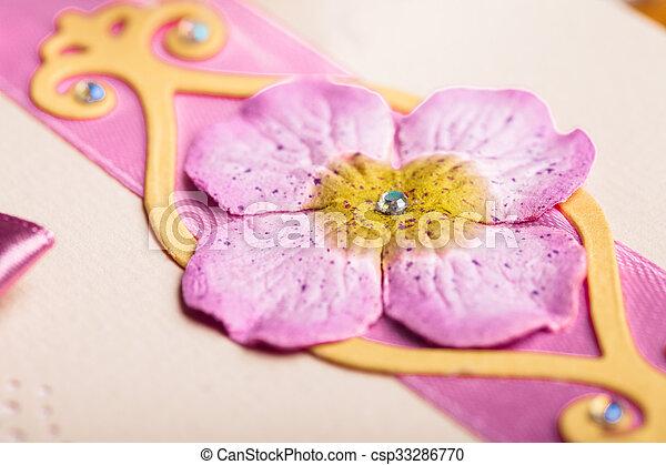 postal, invitación boda - csp33286770