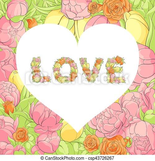 Una postal de San Valentín - csp43726267