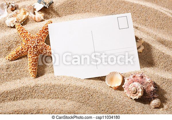 postcard from beach - csp11034180
