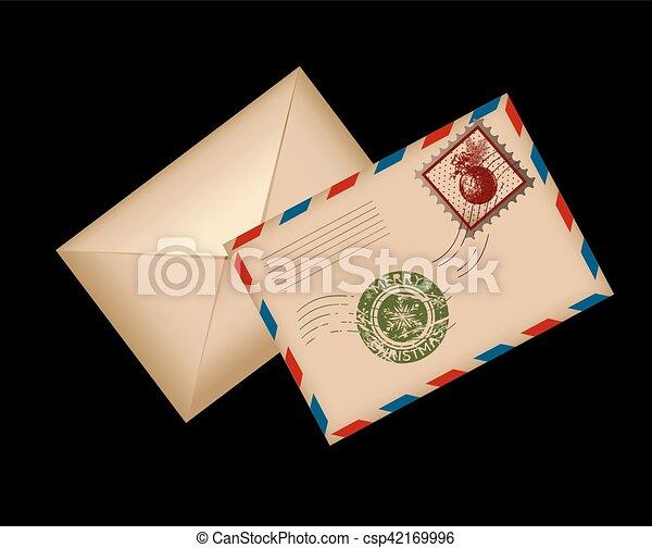 Postcard Letter for Santa. Vector Illustration. - csp42169996