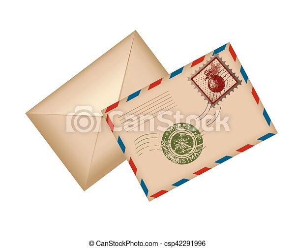 Postcard Letter for Santa. Vector Illustration. - csp42291996