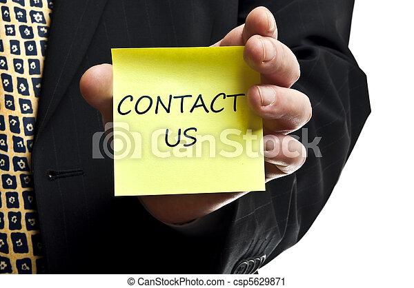 poste, contact, il, nous - csp5629871