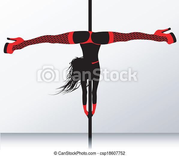 Baile polaco. Striptease erótico - csp18607752