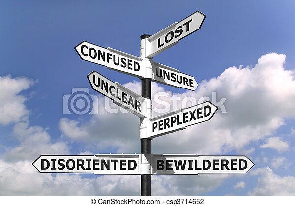 Señal perdida y confusa - csp3714652