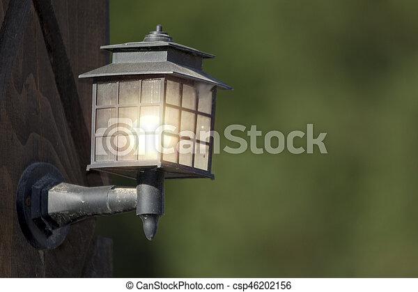 poste, lampe, jardin - csp46202156