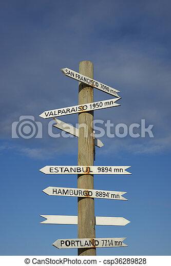 poste, pascua, chile, isla, señal - csp36289828