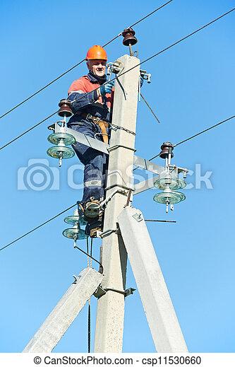 Poste trabajo electricista delantero potencia for Trabajo de electricista en malaga