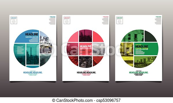 poster annual report201720182019 flyer template circle abstract background