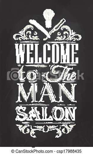 poster barbershop chalk poster barbershop welcome to the man salon