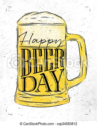 Poster beer day - csp34583812