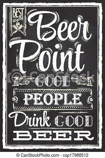 Poster Beer Point chalk - csp17988512