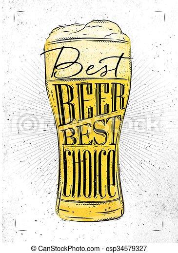 Poster best beer - csp34579327