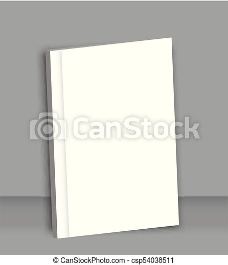 Poster Blank Brochure Mockup Cover Template. Vector  Blank Brochure