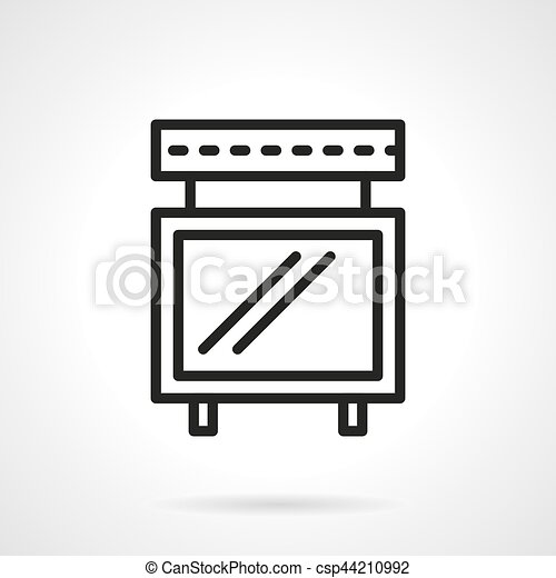 poster board simple line vector icon symbol of a poster board for