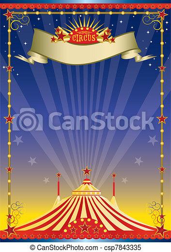 poster, circus, nacht - csp7843335