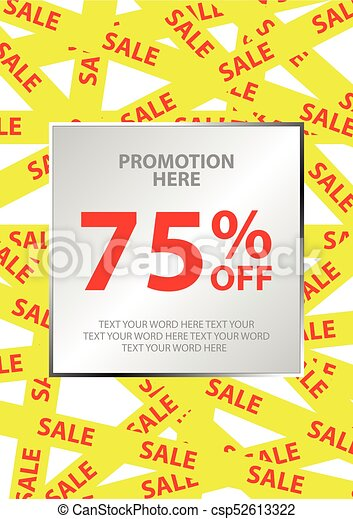 poster design for sale event in simple style with space for texting
