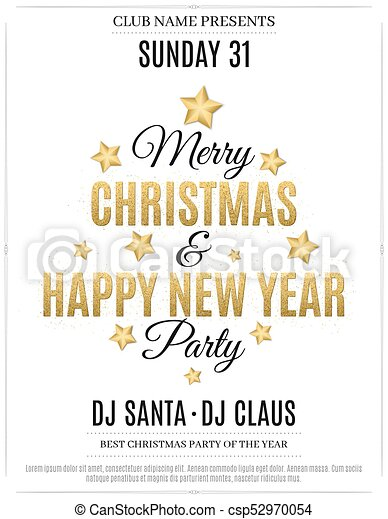 new year party invitation cards