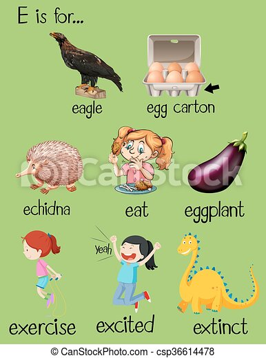 Letter Words In English Starting With E
