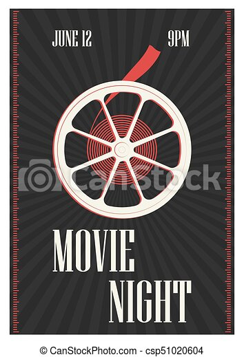 Poster Or Flyer Template For Motion Picture Premiere Cinema Festival Professional Movie Show