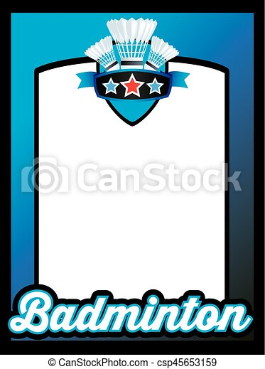 Poster template for badminton club. Space for you to add own details ...