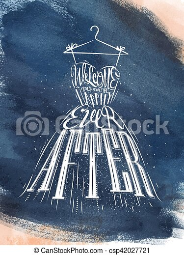 Poster wedding dress blue. Poster wedding dress lettering welcome to ...