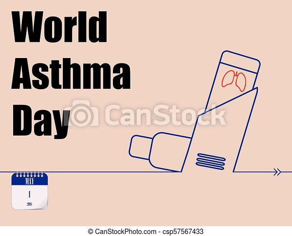 Poster World Asthma Day Calendar Holiday Of May World Asthma Day