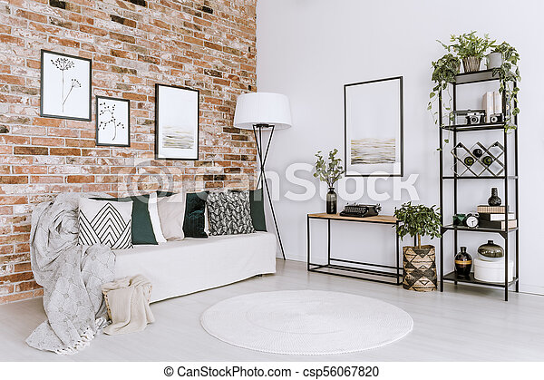 Astonishing Posters In Bright Living Room Squirreltailoven Fun Painted Chair Ideas Images Squirreltailovenorg