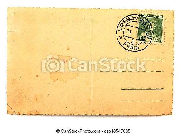 Alte leere Postkarte - csp18547085