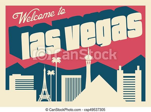 Las Vegas Postkarte - csp49537305