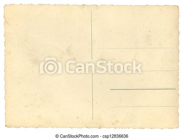Blanke Postkarte - csp12836636