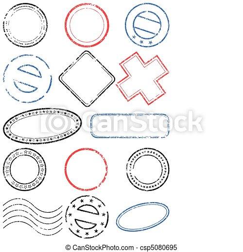 Postmark vector illustration set. - csp5080695