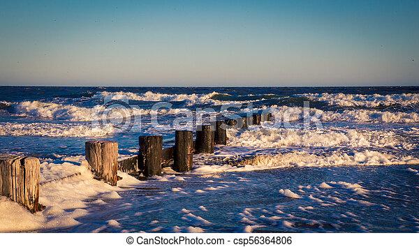 posts in the Atlantic ocean - csp56364806