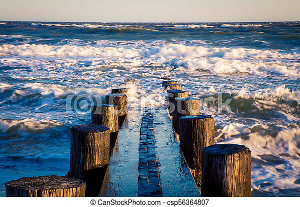 posts in the Atlantic ocean - csp56364807