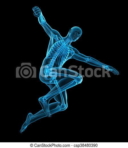 Una pose de deportista - csp38480390