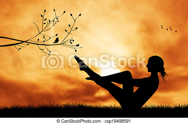 Pose de yoga - csp19498591
