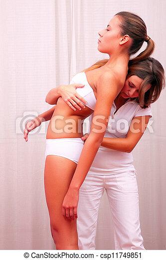 postural evaluation spinal column - csp11749851
