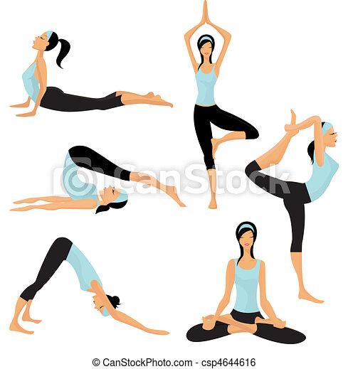 Posas de yoga - csp4644616