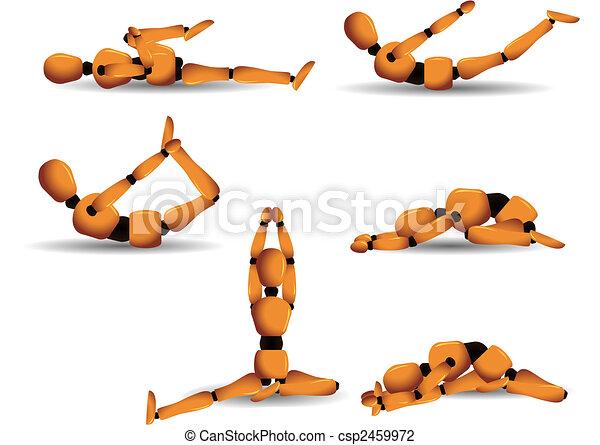 Posturas de yoga - csp2459972