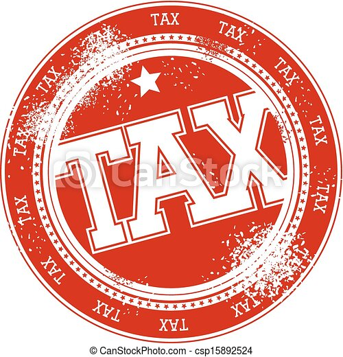 postzegel, belasting, vector, grunge - csp15892524