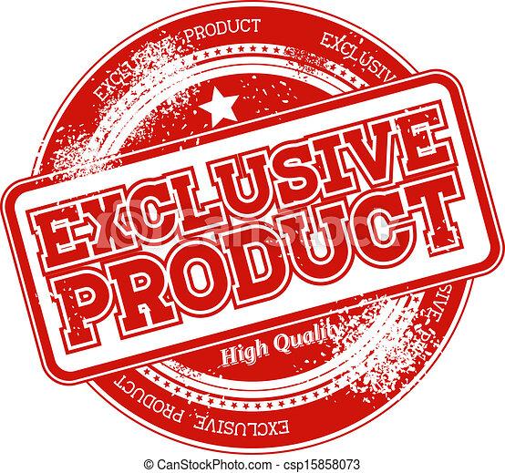 postzegel, exclusief, product, grunge - csp15858073
