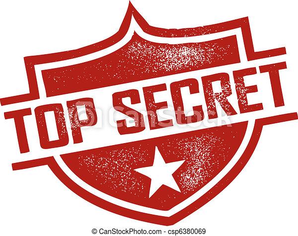 postzegel, hoogste geheim - csp6380069