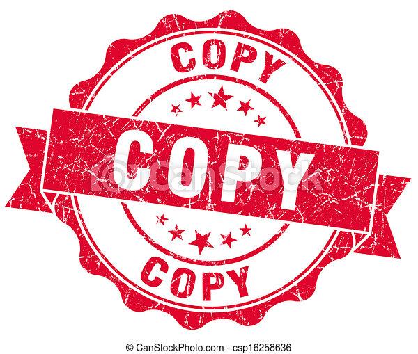 postzegel, kopie, grunge, rood - csp16258636