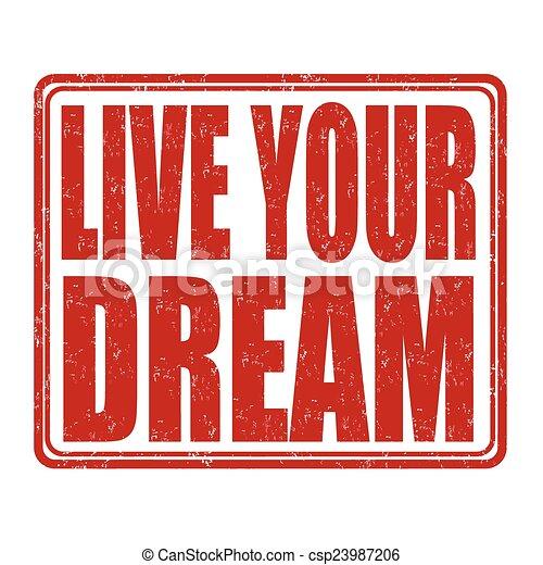 postzegel, leven, droom, jouw - csp23987206