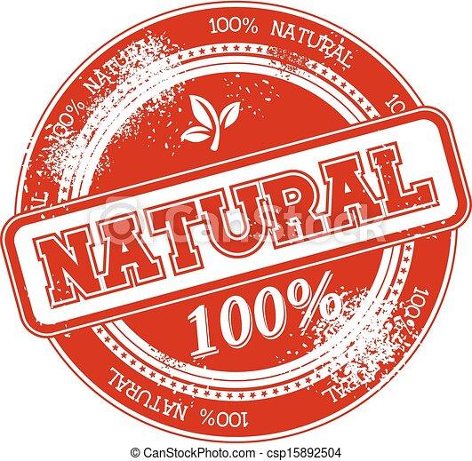 postzegel, natuurlijke , vector, grunge - csp15892504