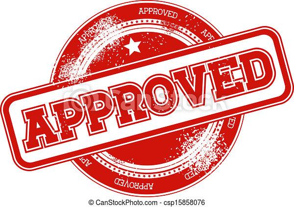 postzegel, vector, grunge, goedgekeurd - csp15858076