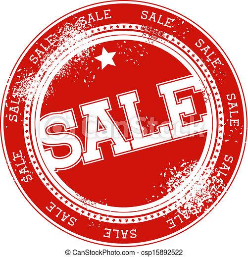 postzegel, vector, grunge, verkoop - csp15892522